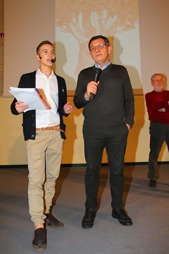Matteo Moratti con Corrado Borelli (Gs Arbor Basket)