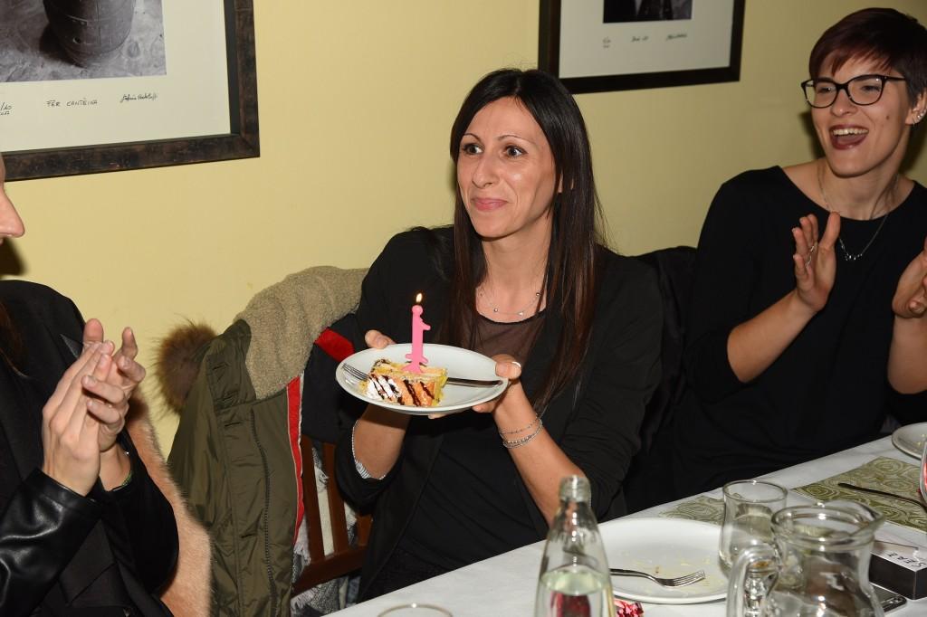Serena Soliani, giocatrice dell'Interclay Itarca, ha festeggiato il compleanno al NatalArbor